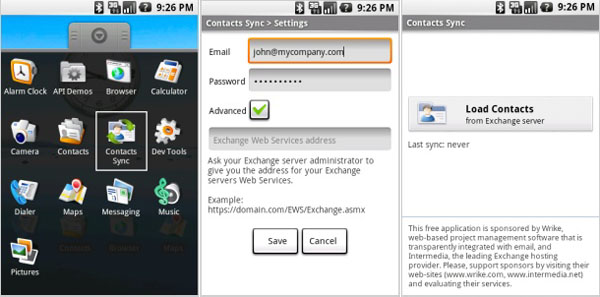contact sync android