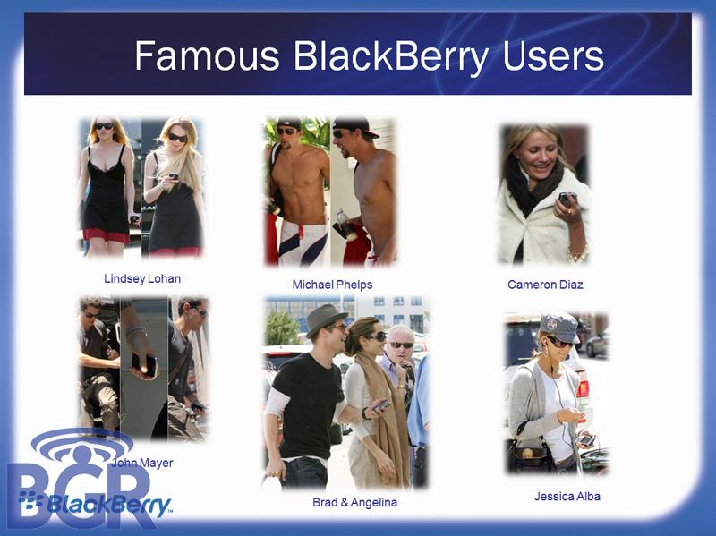 Celebrity BlackBerry Users