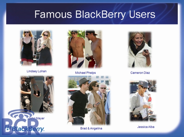 Celebrity BlackBerry Users