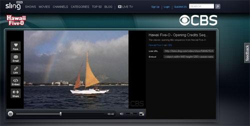 Sling.com  video portal