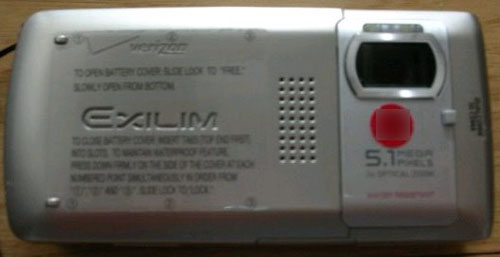 Casio Exilim Verizon Spy Shot