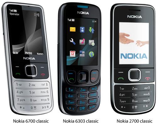 Nokia 6700 6303 2700