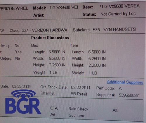 LG VX9600 Versa