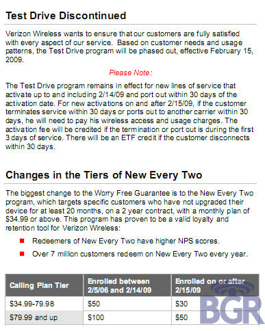 Verizon Wireless Test Drive, New Every Two