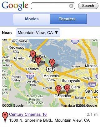 google-movie-theater-listings