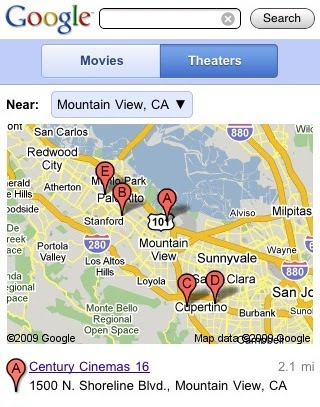 google-movie-theater-listings