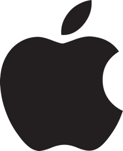 Apple Logo-Black + White