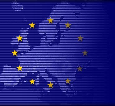 EU Flag Over Countries