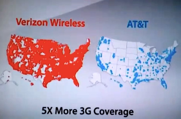 Verizon Map For That Advertisment