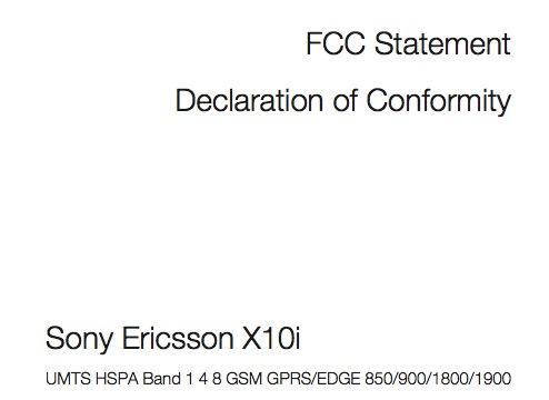 FCC XPERIA 10 Delcaration of Conformity