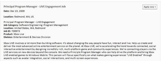 xbox-live-windows-mobile-job