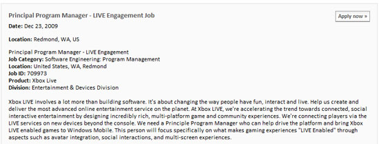 xbox-live-windows-mobile-job