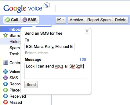 Google Voice Multi-SMS