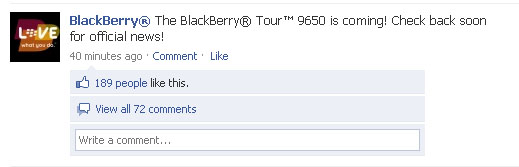 BlackBerry Facebook 9650 Tease
