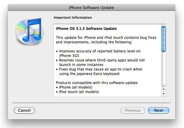 iPhone OS 3.1.3