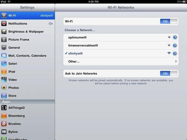 WiFi Roaming iPad