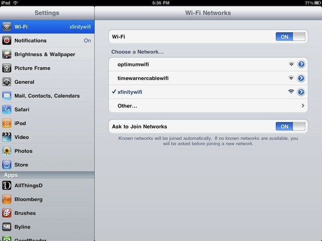 WiFi Roaming iPad