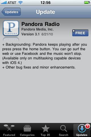 Pandora 3.1