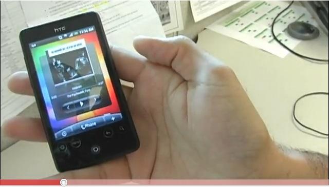 HTC Aria YouTube