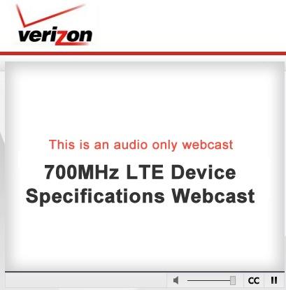 VZW LTE Webcast June 15, 2010