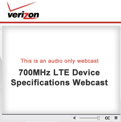 VZW LTE Webcast June 15, 2010