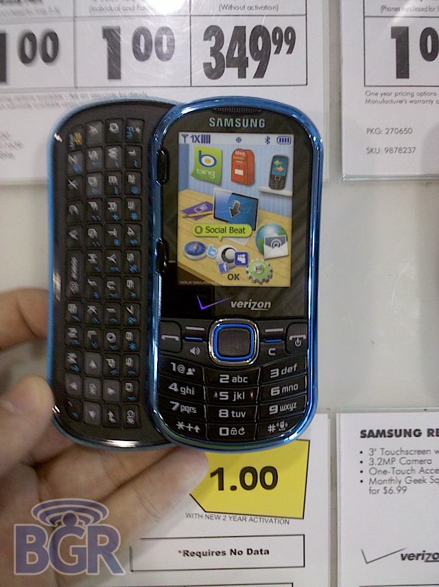 Samsung Intensity II BB Leak