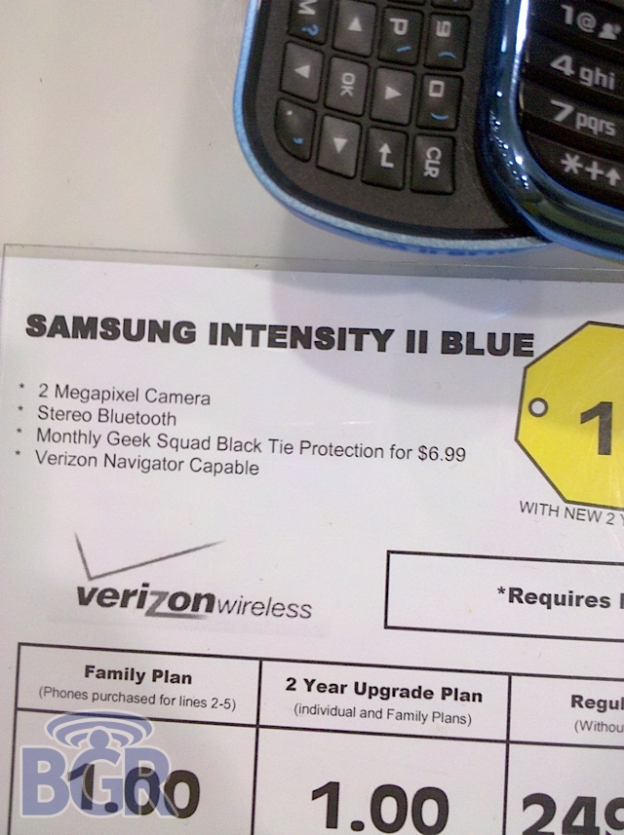 Samsung Intensity II BB Leak 2