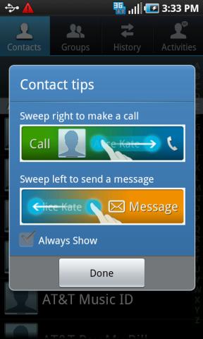 Contact Swipe