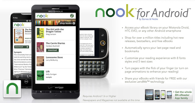 Nook for Android Launched