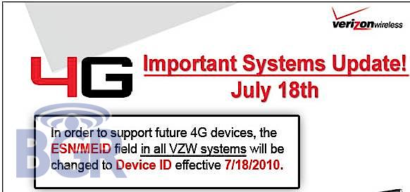 VZW 4G System UPgrade