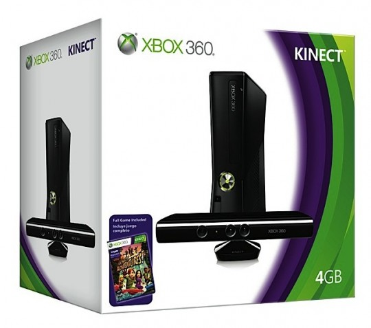 xbox 360 4gb kinect bundle 1 540x477