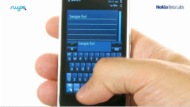Apple iOS Swype