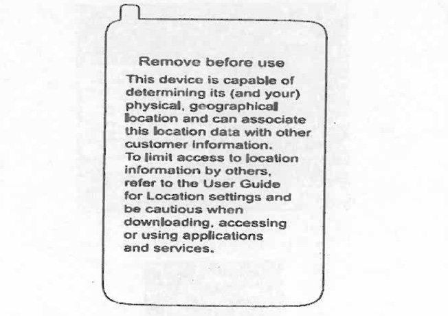 Verizon adding location tracking warning sticker to phones