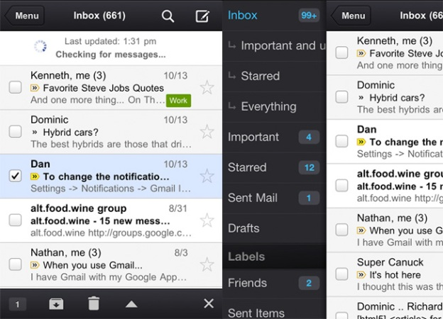 Gmail iOS Notification Center Support