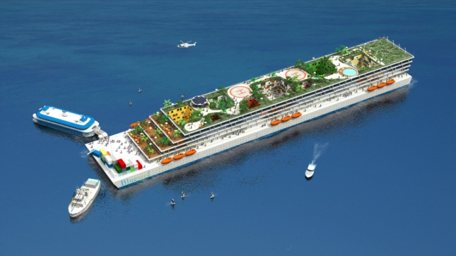 Floating city attracts more than 100 residents