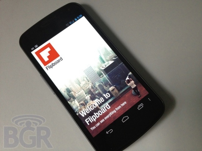 Flipboard to be available exclusively on the Galaxy S III