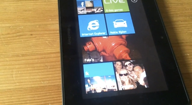 BlackBerry PlayBook Running Windows Phone