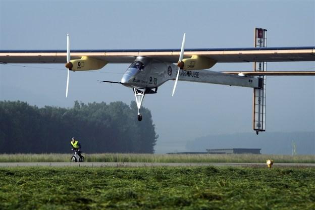 Solar-Powered Airplane First Flight