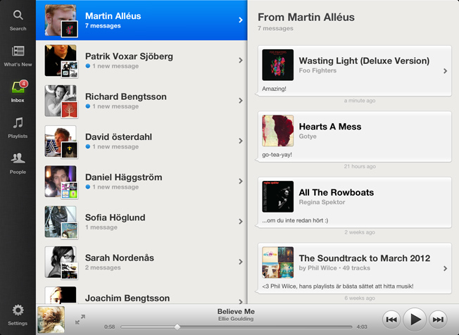 Spotify for iPad now available