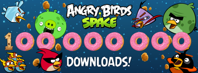 Angry Birds Space 100 Million Downloads