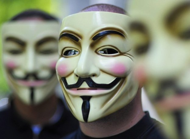 Anonymous Hackers Protest European Union