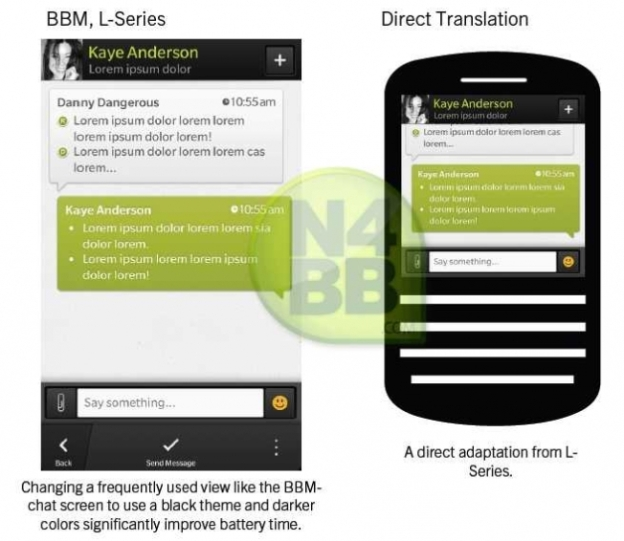 BlackBerry 10 BBM Images Leak