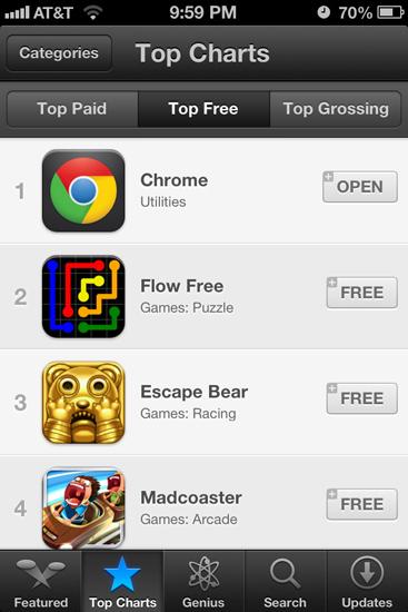 Chrome Top Free App