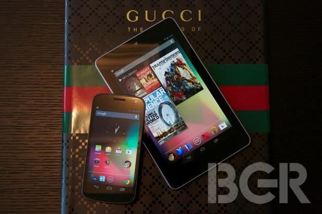 Nexus 7, Galaxy Nexus Android 4.1 Jelly Bean hands on