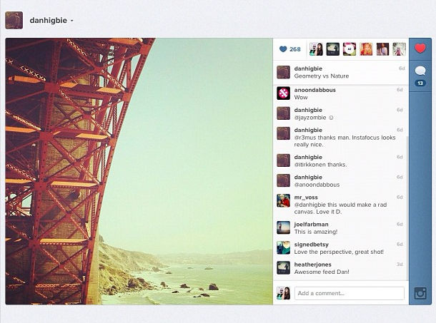 Instagram Website Redesigned