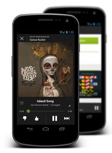 Spotify Radio Android App