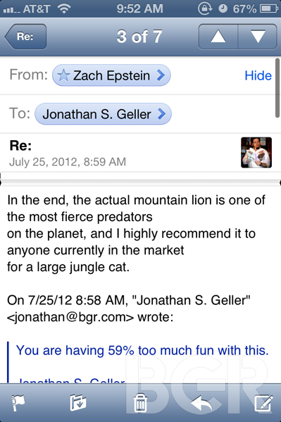 iOS 6 Mail features