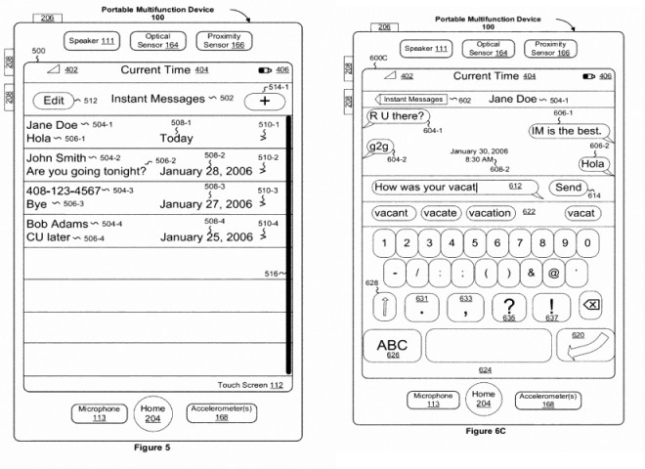 Apple Patent Touch UI