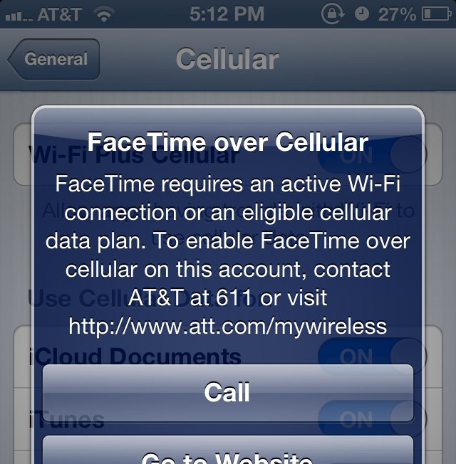 AT&T Defends FaceTime Cellular Policy