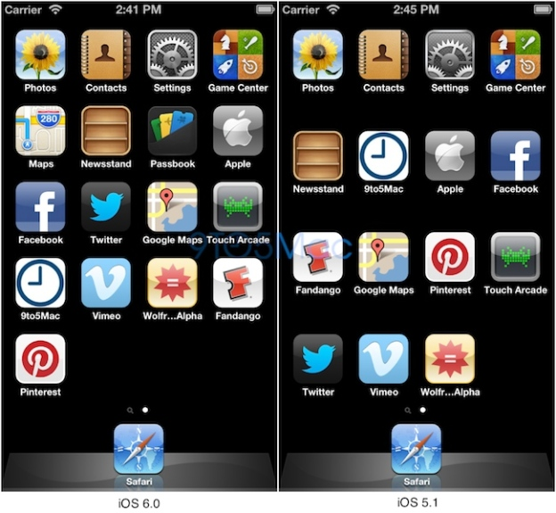 iPhone 5 screen images, Apple simulator scaling apps and homescreen